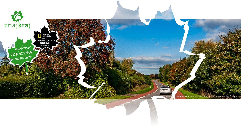 Droga z malowanymi poboczami dla rowerów