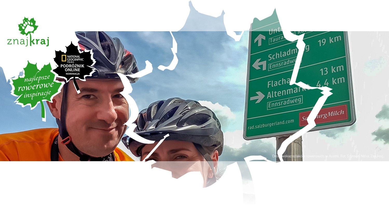 Drogowskaz szlaków rowerowch w Austrii