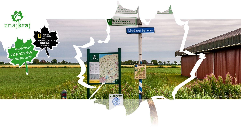 Drogowskazy szlaków rowerowch w Holandii