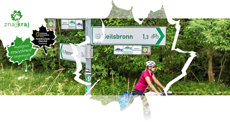 Drogowskazy szlaków rowerowych koło Heilsbronn
