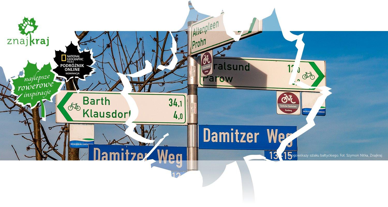 Drogowskazy szlaku bałtyckiego