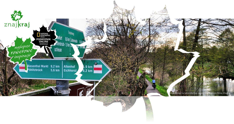 Drogowskazy turystyczne przy szlaku