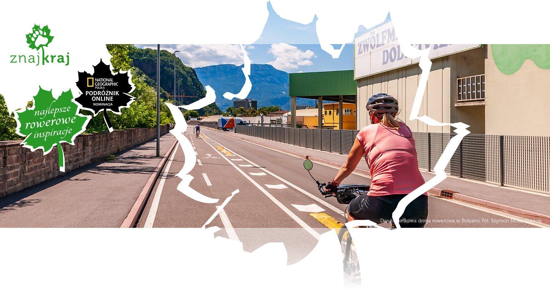Dwukierunkowa droga rowerowa w Bolzano