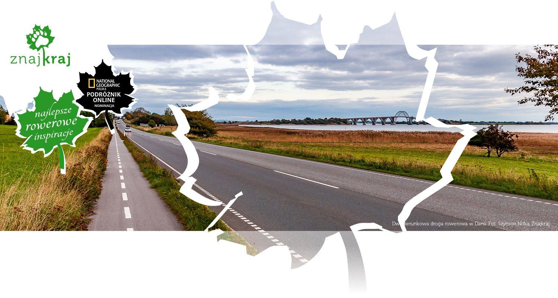 Dwukierunkowa droga rowerowa w Danii