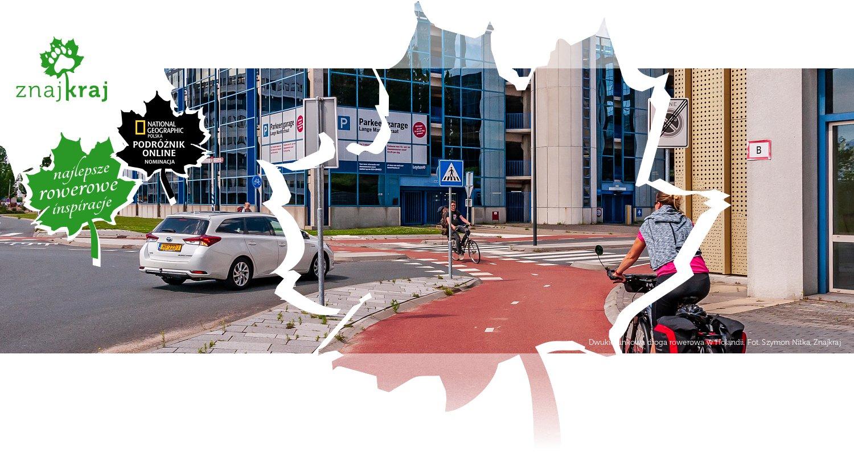 Dwukierunkowa droga rowerowa w Holandii
