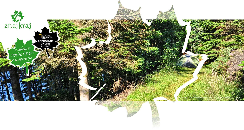 Dziki nocleg nad fiordem koło Laviku