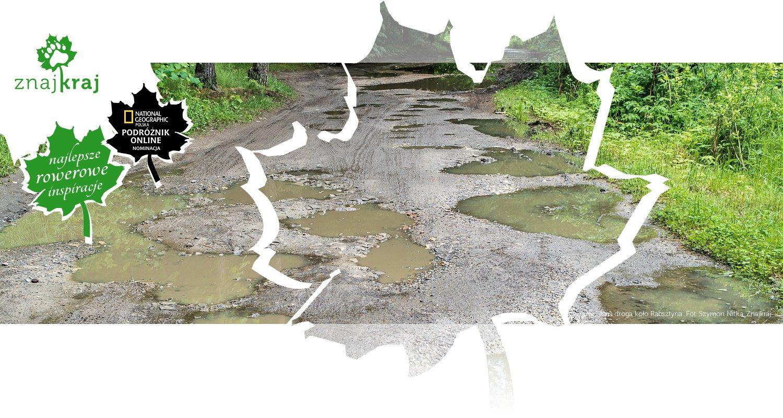 Dziurawa leśna droga koło Rabsztyna