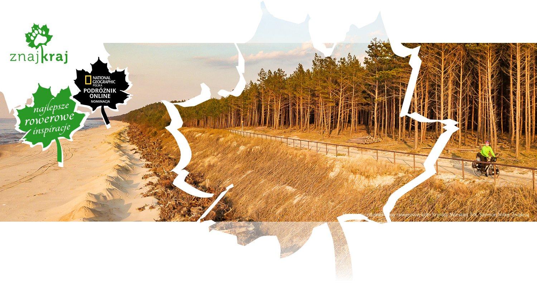 Efektowny odcinek trasy rowerowej koło Krynicy Morskiej