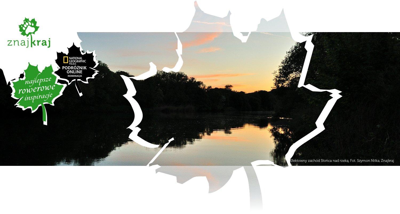 Efektowny zachód Słońca nad rzeką