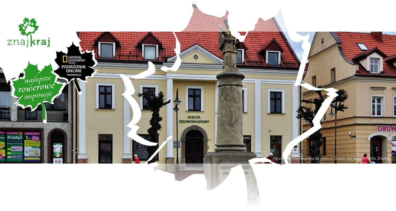 Figura Jana Nepomucena na rynku w Żorach