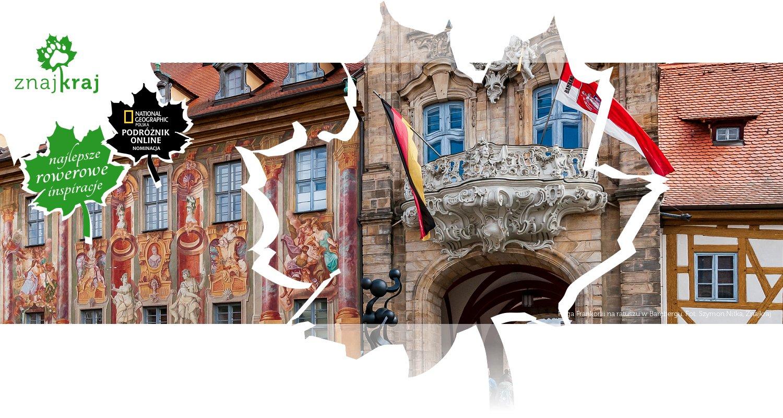 Flaga Frankonii na ratuszu w Bambergu