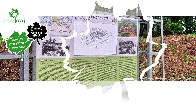 Fort IXa Przy krzyżu - tablica informacyjna