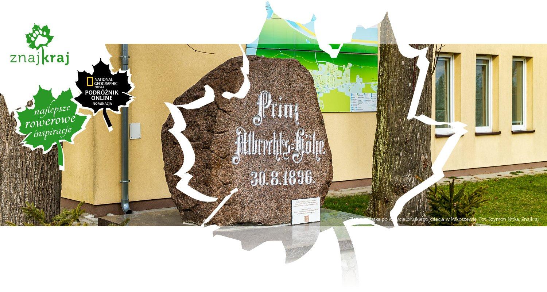 Głaz-pamiątka po wizycie pruskiego księcia w Mikoszewie