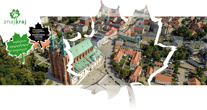 Gniezno - centrum miasta z lotu ptaka