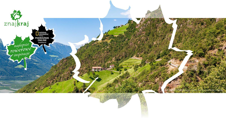Górskie zbocze w Południowym Tyrolu