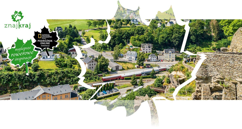 Górzysty krajobraz Rudaw w Wolkenstein