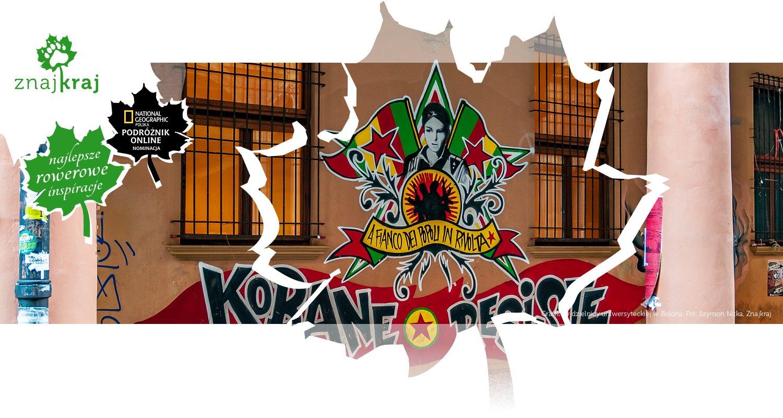 Graffiti w dzielnicy uniwersyteckiej w Bolonii