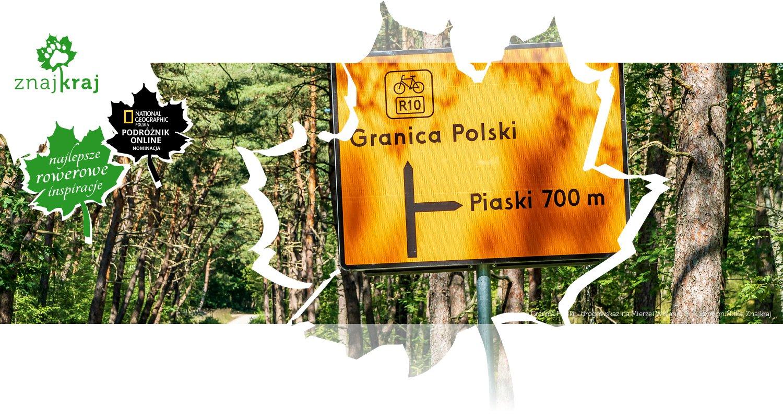 Granica Polski - drogowskaz na Mierzei Wiślanej