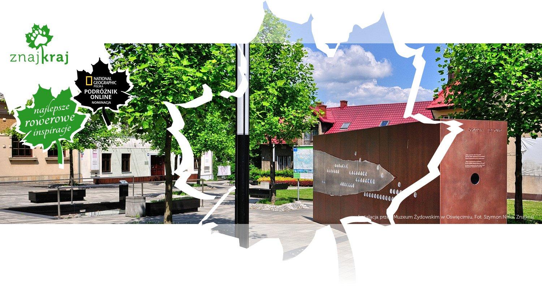 Instalacja przed Muzeum Żydowskim w Oświęcimiu
