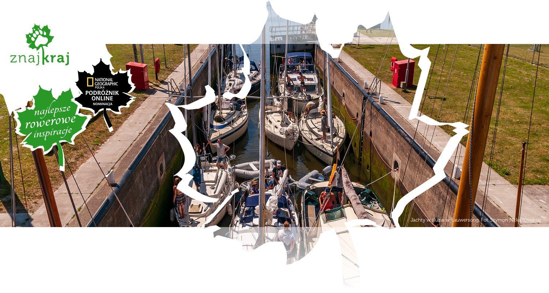 Jachty w śluzie w Lauwersoog