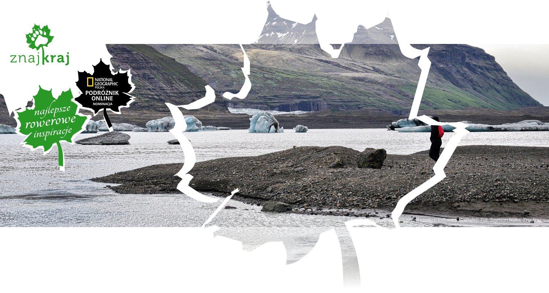 Jezioro lodowocowe przed czołem lodowca Skaftafell