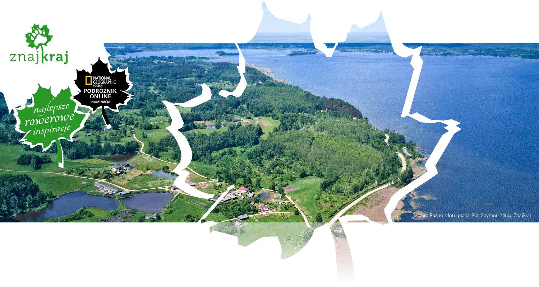 Jezioro Raźno z lotu ptaka