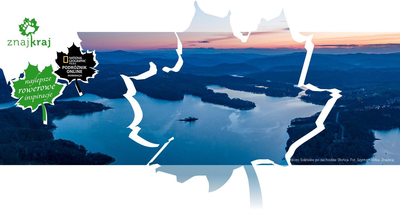 Jezioro Solińskie po zachodzie Słońca