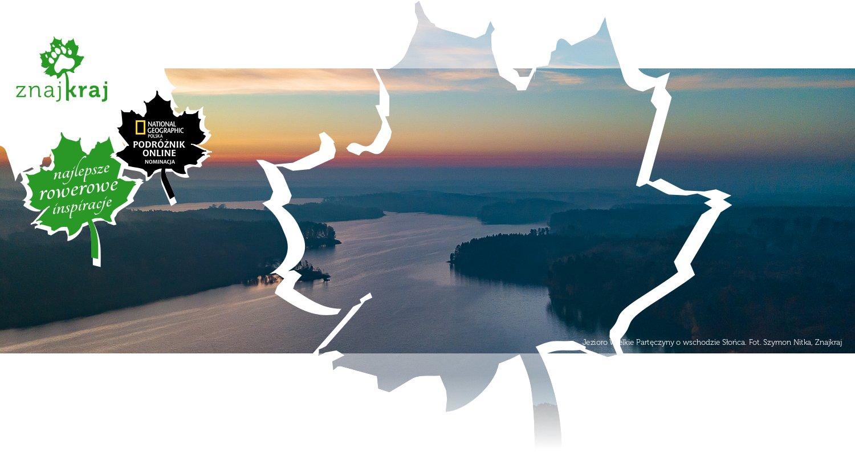 Jezioro Wielkie Partęczyny o wschodzie Słońca