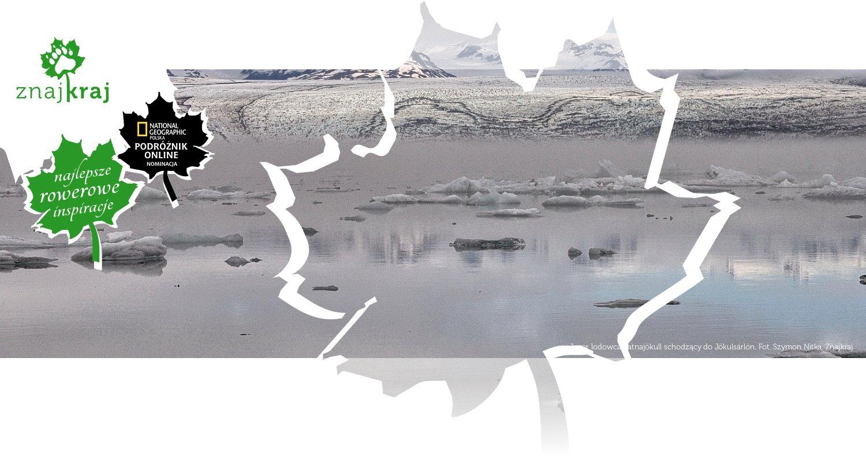 Jęzor lodowca Vatnajökull schodzący do Jökulsárlón