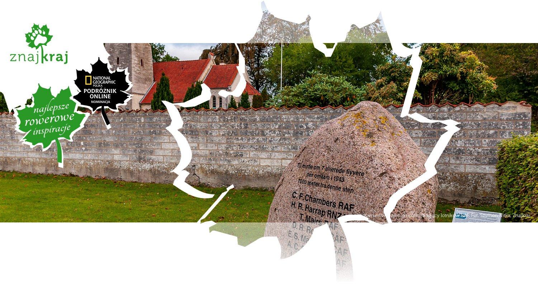 Kamień w Højerup upamiętniający lotników RAF