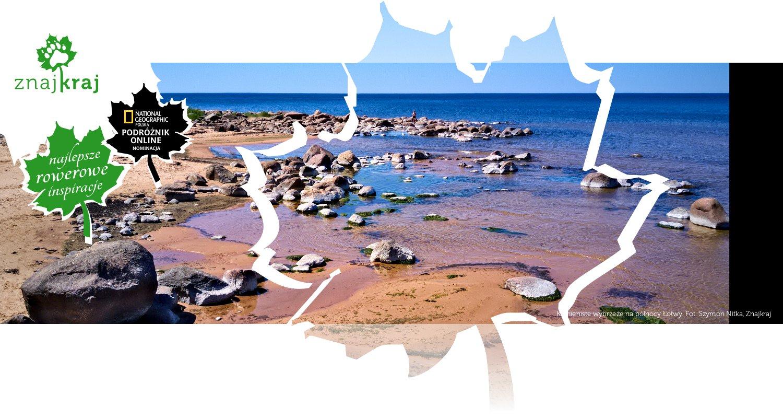 Kamieniste wybrzeże na północy Łotwy
