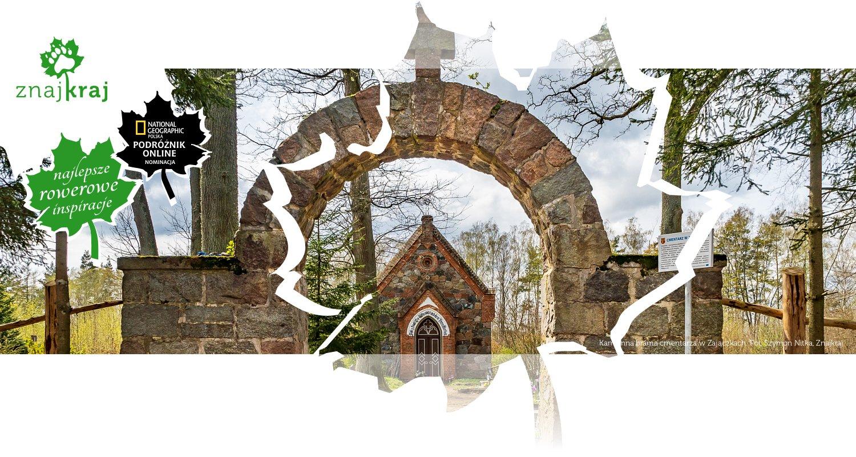 Kamienna brama cmentarza w Zajączkach