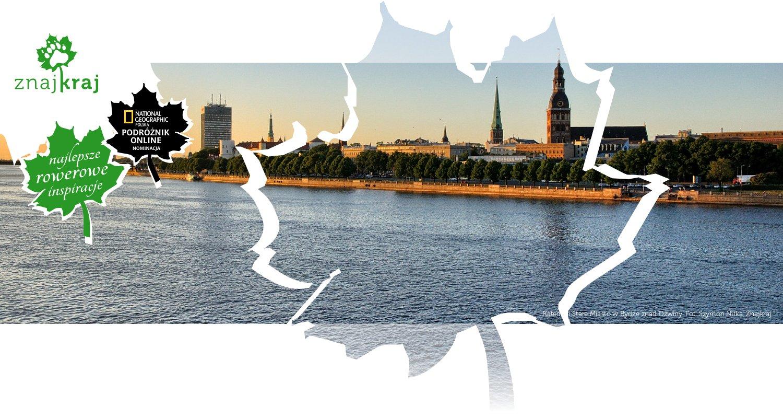 Katedra i Stare Miasto w Rydze znad Dźwiny