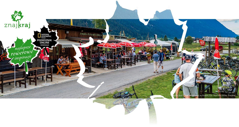 Knajpka przy trasie rowerowej w Austrii