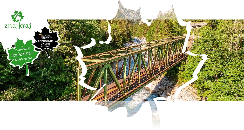 Kolejowy most trasy w dolinie Enns
