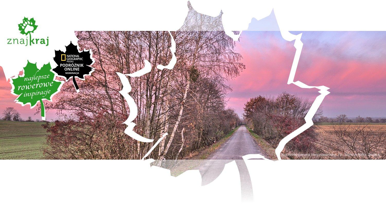 Kolorowa sceneria trasy rowerowej