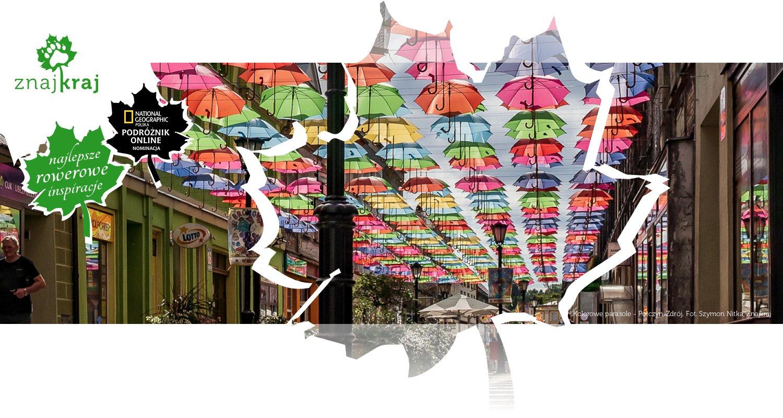 Kolorowe parasole - Połczyn-Zdrój