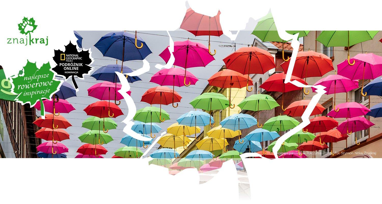 Kolorowe parasole w Połczynie-Zdroju