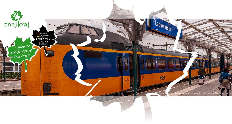 Koploper - holenderski pociąg na dworcu w Leeuwarden