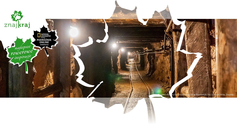Korytarz dawnej kopalni w muzeum w Altenbergu