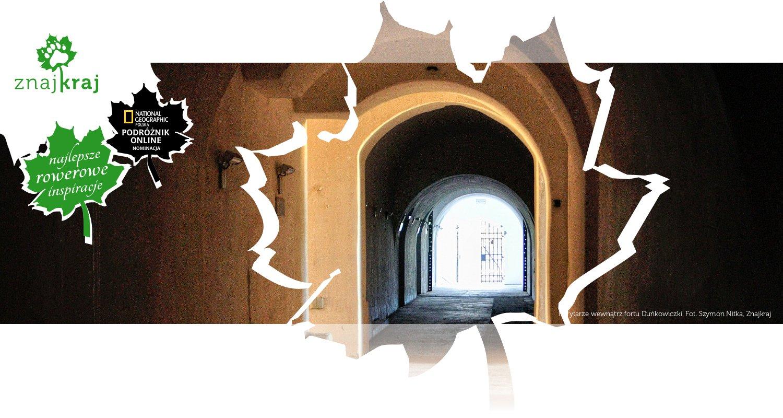 Korytarze wewnątrz fortu Duńkowiczki