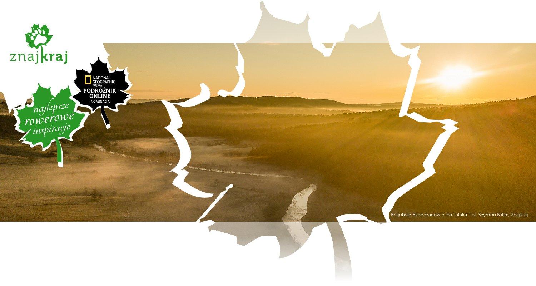 Krajobraz Bieszczadów z lotu ptaka