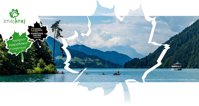 Krajobraz jeziora Weißensee w Austrii