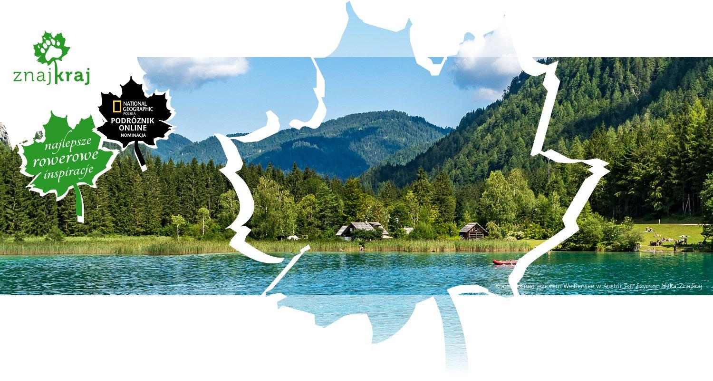 Krajobraz nad jeziorem Weißensee w Austrii
