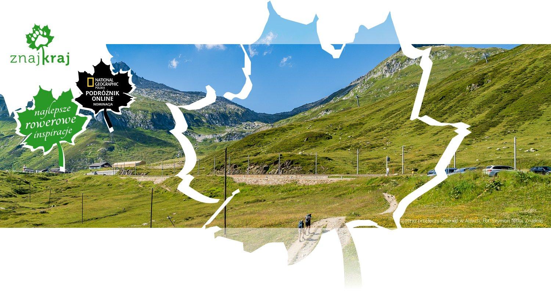 Krajobraz przełęczy Oberalp w Alpach