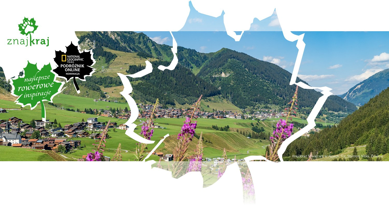Krajobraz Szwajcarii w Alpach