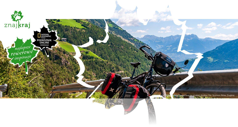 Kross Trans i sakwy Extrawheel na górskiej drodze