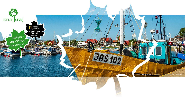Kuter rybacki w porcie w Jastarni