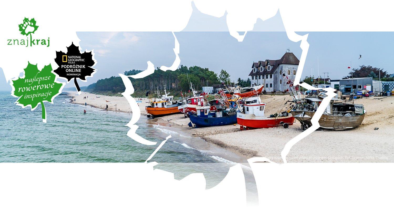 Kutry rybackie na przystani plażowej w Chłopach