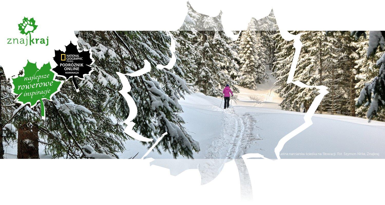 Leśna narciarska ścieżka na Słowacji